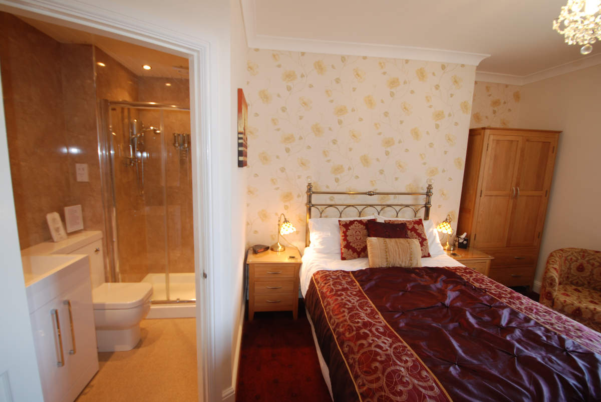 Photograph of Bramblewick Guesthouse bedroom and en-suite