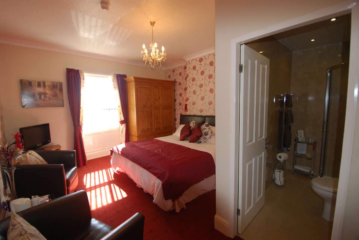 Guest accommodation photograph of Bramblewick Guesthouse bedroom and en-suite