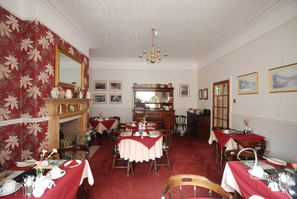 Photograph of Bramblewick Guest house dining room